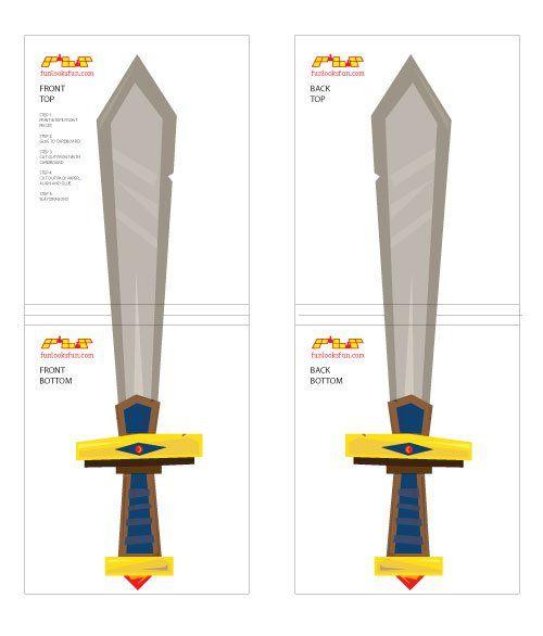 Pirate Sword Template Cardboard