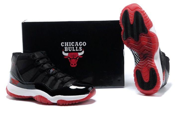 Authentic Nike Shoes For Sale Air Jordan 11 Chicago Bulls Black Varsity Red  White [Men Air Jordans -