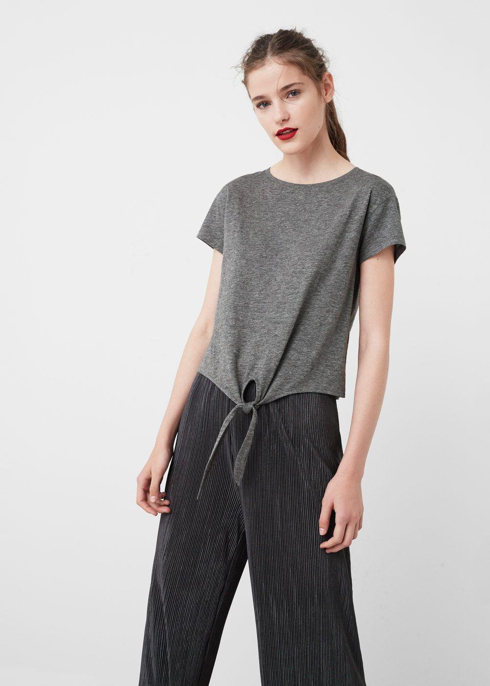 Camiseta algodón nudo | MANGO