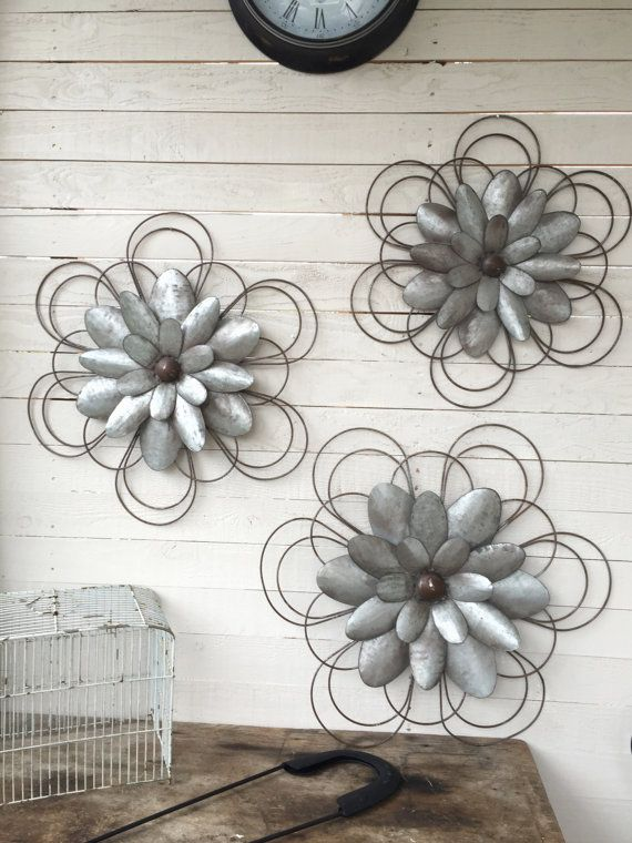 Metal Wall Flowers Floral Metal Wall ArtMetal by CamillaCotton ...