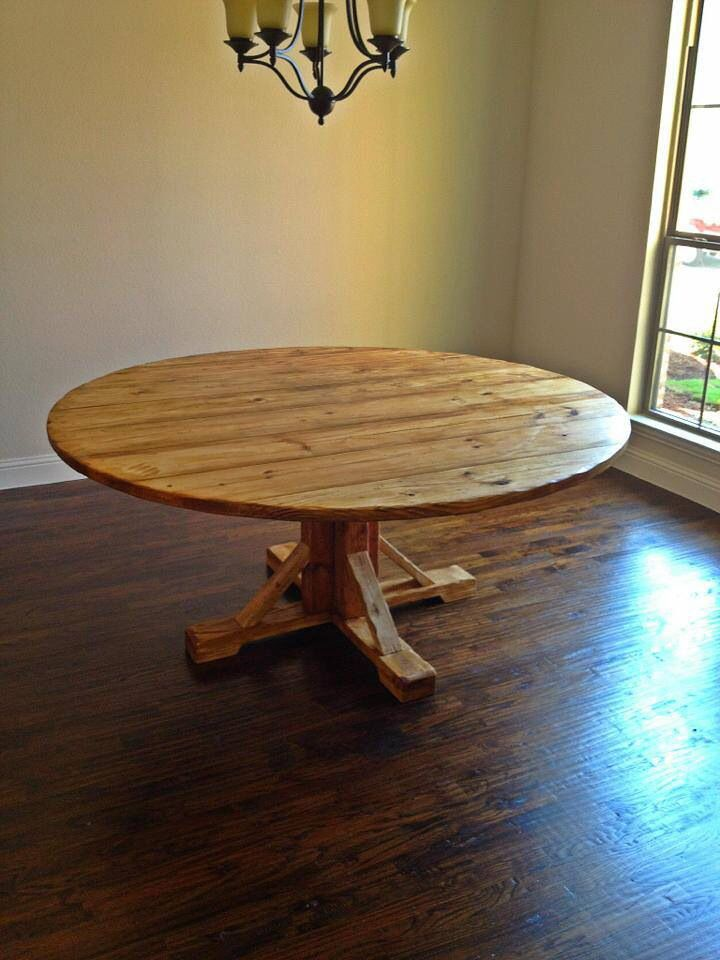 6 Foot Wide Round Table Dinning Table Farmhouse Table Coffee Table