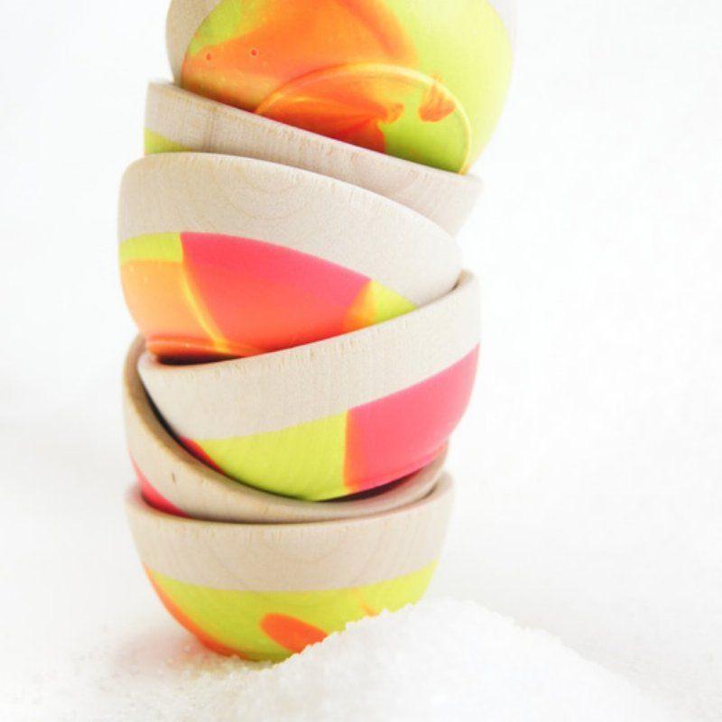 Neon Mini Hand Dipped Bowls.