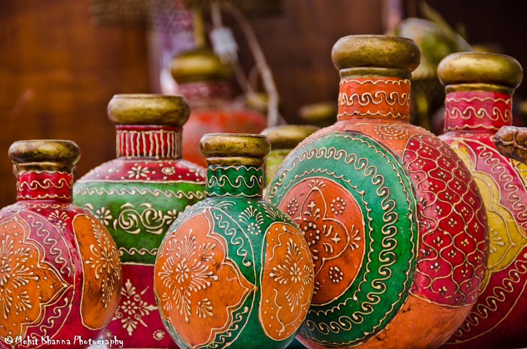 Rajasthan, India is known for its colors. Here's some enticing colors from the Pushkar Camel Fair at the Pottery Exhibit.