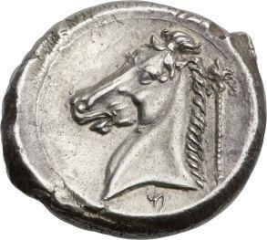 Ancients:Greek, Ancients: SICULO-PUNIC. Entella. Ca. 320-300 BC. AR tetradrachm(26mm, 16.81 gm, 10h)....