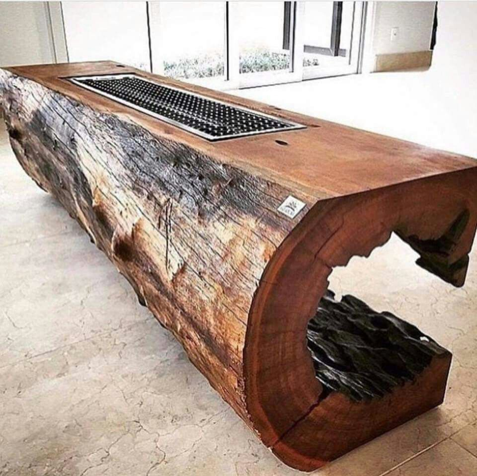 Awesome Desk Table Idea Hollow Tree Trunk Wood Diy Furniture