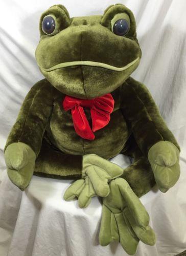 Dan Dee Jumbo Giant Green Frog Large Plush Soft Toy Dandee