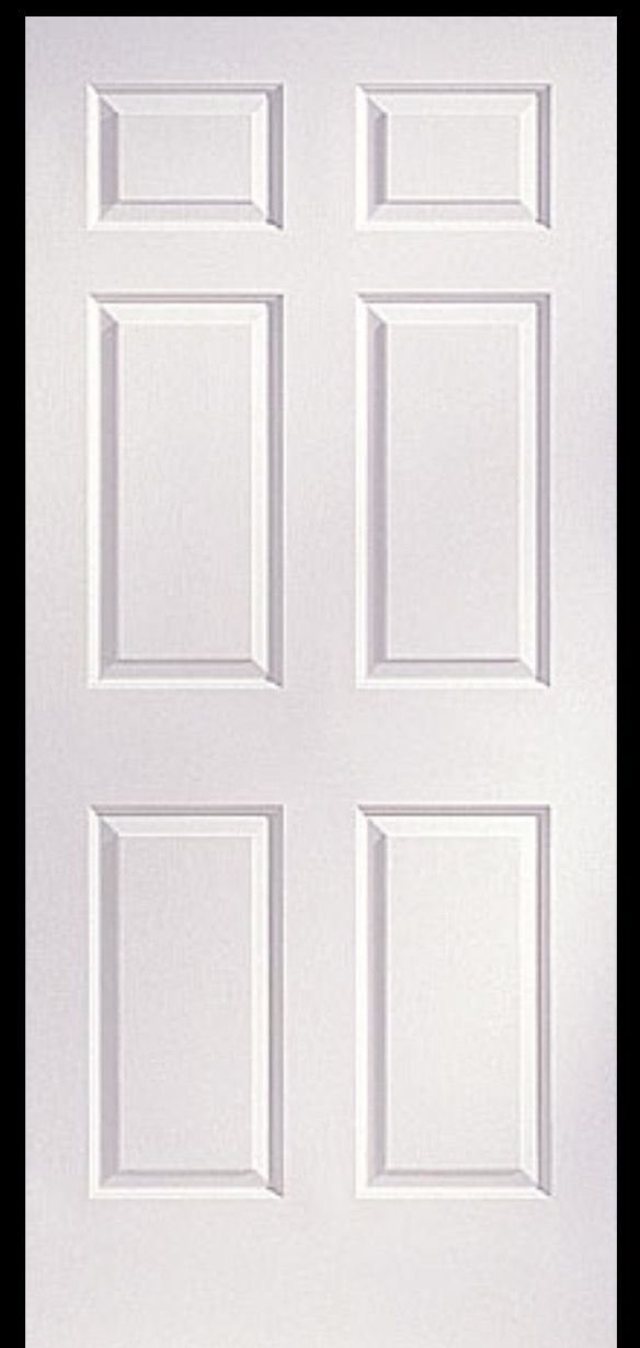 I Did Not Know This The 6 Panel Door Originated In The 1700s As An Expression Of Christian Faith T Doors Interior Interior Paint Finishes Moldings And Trim