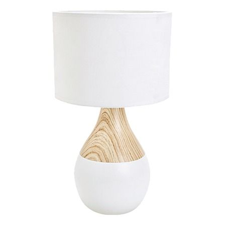 Mi Casa Premium Boden Ceramic Table Lamp White/Natural - Indoor Lighting - Living Room - Homewares - The Warehouse