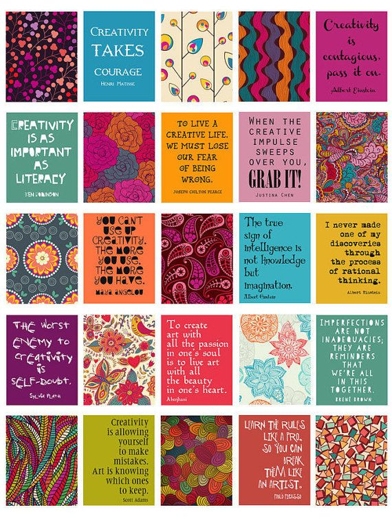 creativity quotes stickers for life planner printable