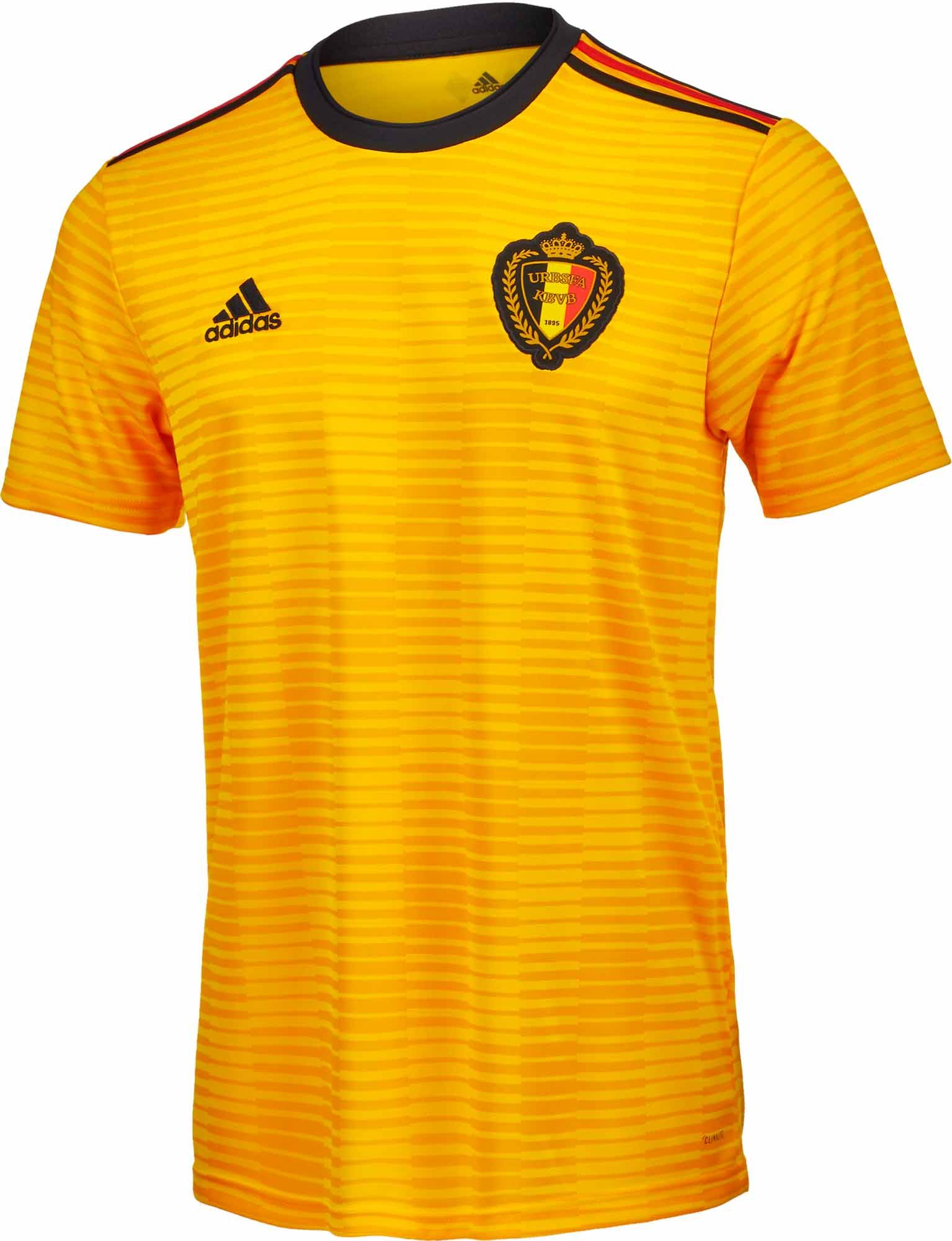 57f9b364ddf 2018 adidas Belgium Away Jersey. Shop for yours at www.soccerpro.com