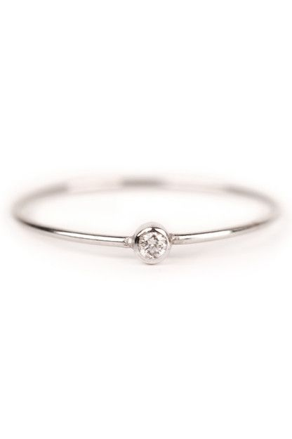 Tiny And Simple Engagement Ring This Is Exactly What I Ve Told