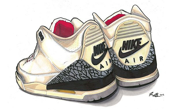 Sneakers For Girl : Picture Description Air Jordan Art by Greg Bellamy