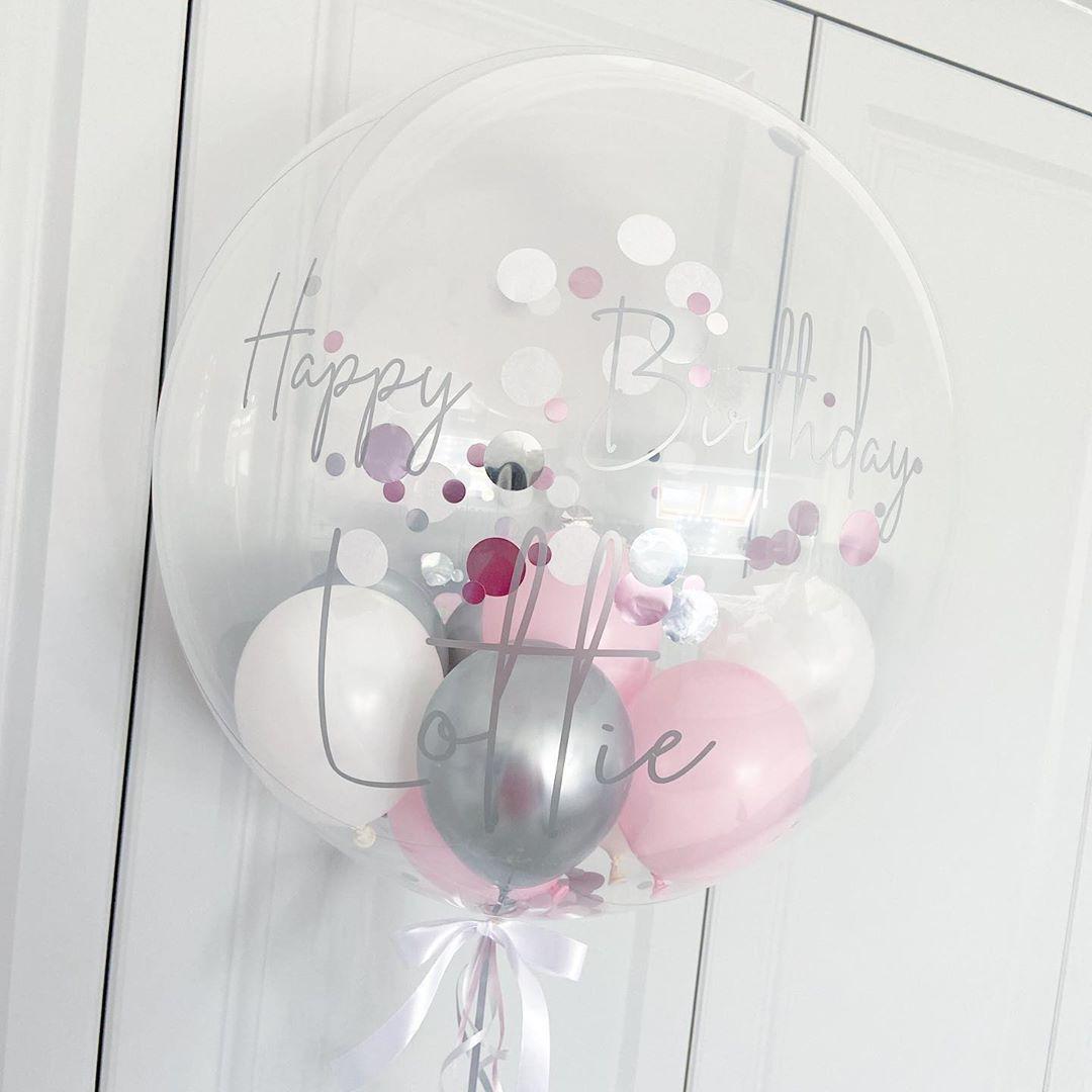 "Precious Party Balloons's Instagram post: ""Birthday Bubble � . . . #balloons #bubbleballoons #bespokeballoons #personalisedballoons #personalised #balloonarrangement…"""