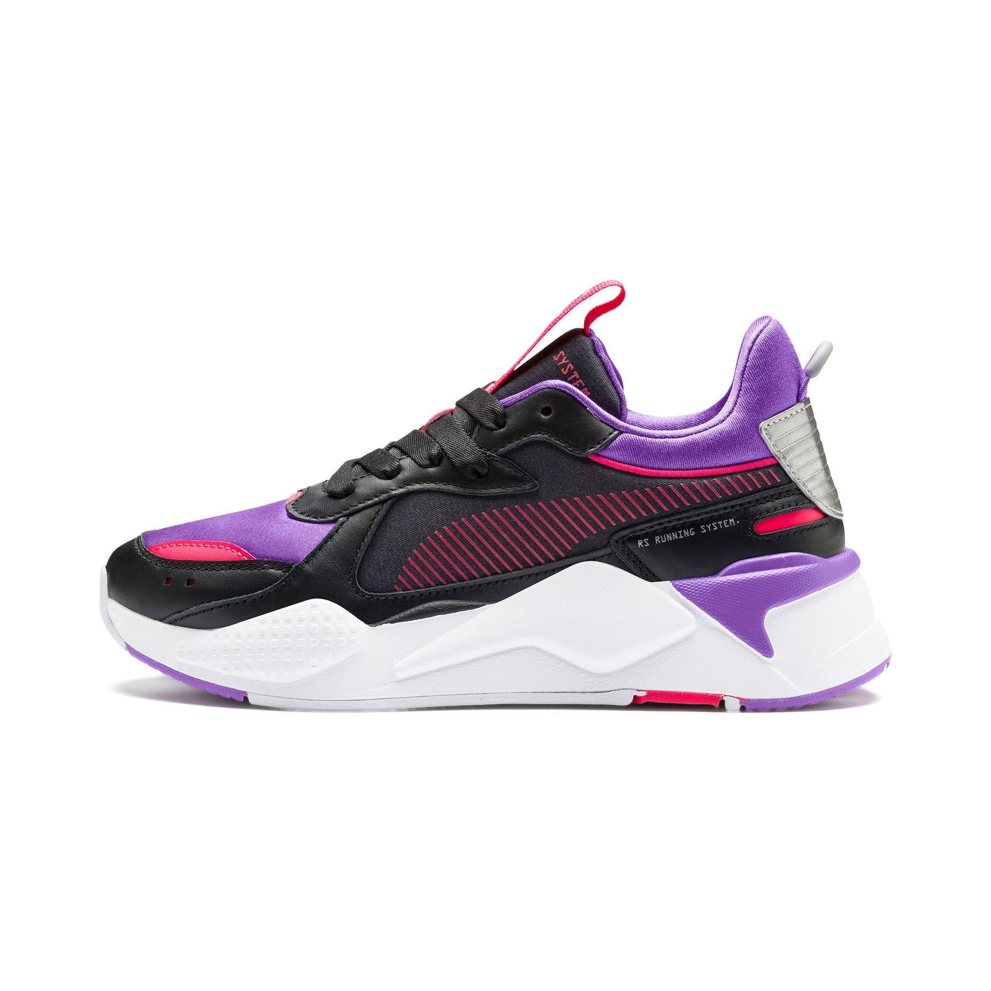 PUMA Rs-X Metallic Women's Trainers in Black/Purple Glimmer size ...