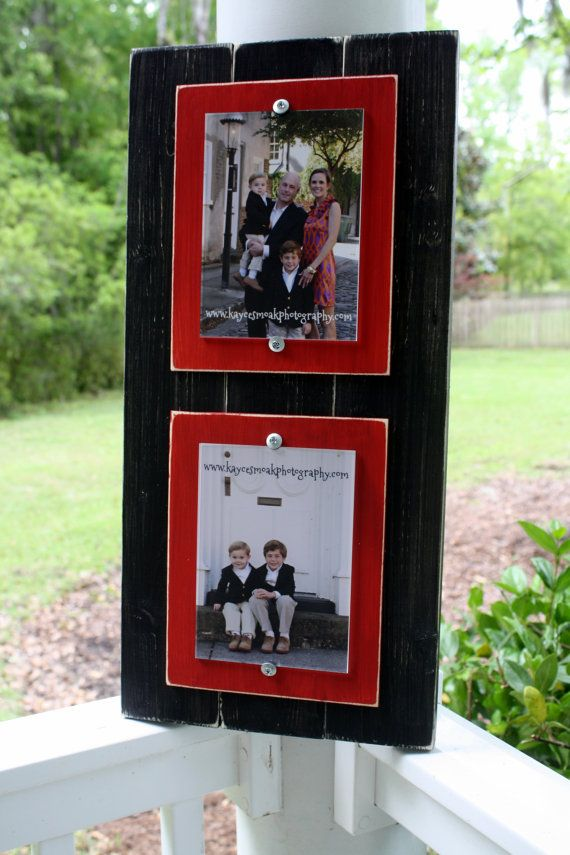 Distressed Picture Frame, College Frame, Double 5x7 Frame, Rustic ...