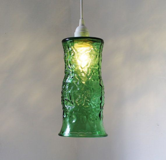 Emerald City Hanging Pendant Lighting Fixture Upcycled Vintage E O Brody Co Green Glass Flow With Images Hanging Pendant Lights Hanging Pendants Pendant Light Fixtures