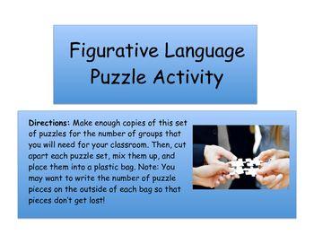 Figurative Language Puzzle Game | Short Stories Resources ...