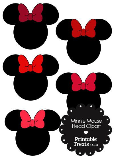 Minnie Mouse Head Clipart With Red Bows Mickey Mouse Crafts Minnie Minnie Mouse Printables