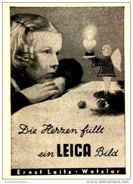 original werbung anzeige 1943 leica kamera ernst leitz wetzlar ca 45 x 70 mm vintage. Black Bedroom Furniture Sets. Home Design Ideas