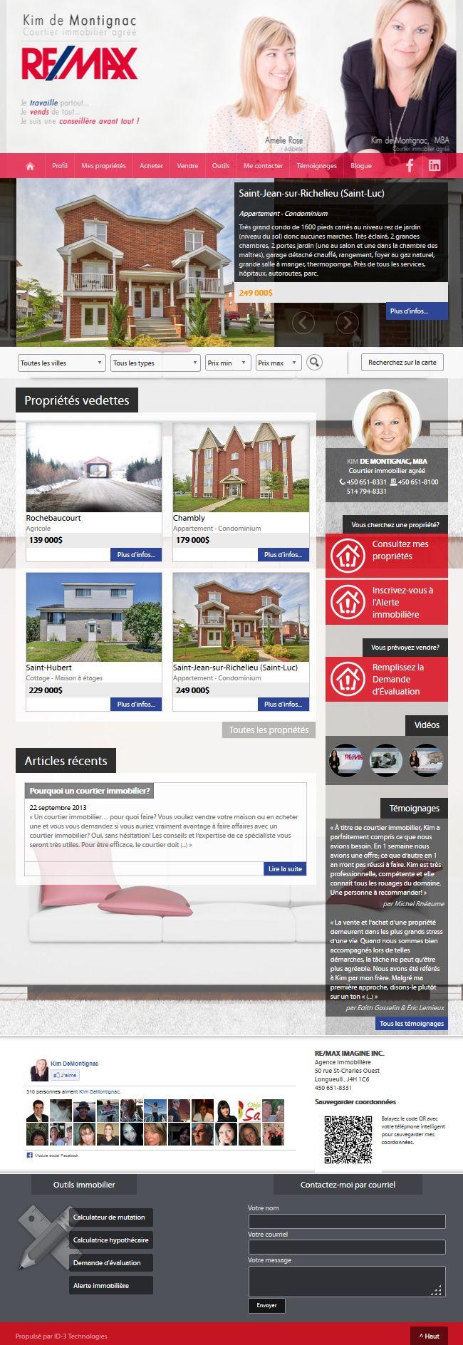 Kim De Montignac Courtier Immobilier Remax Aliquando Immobilier Vendre Acheter Maison Http Kimdemontignac Com