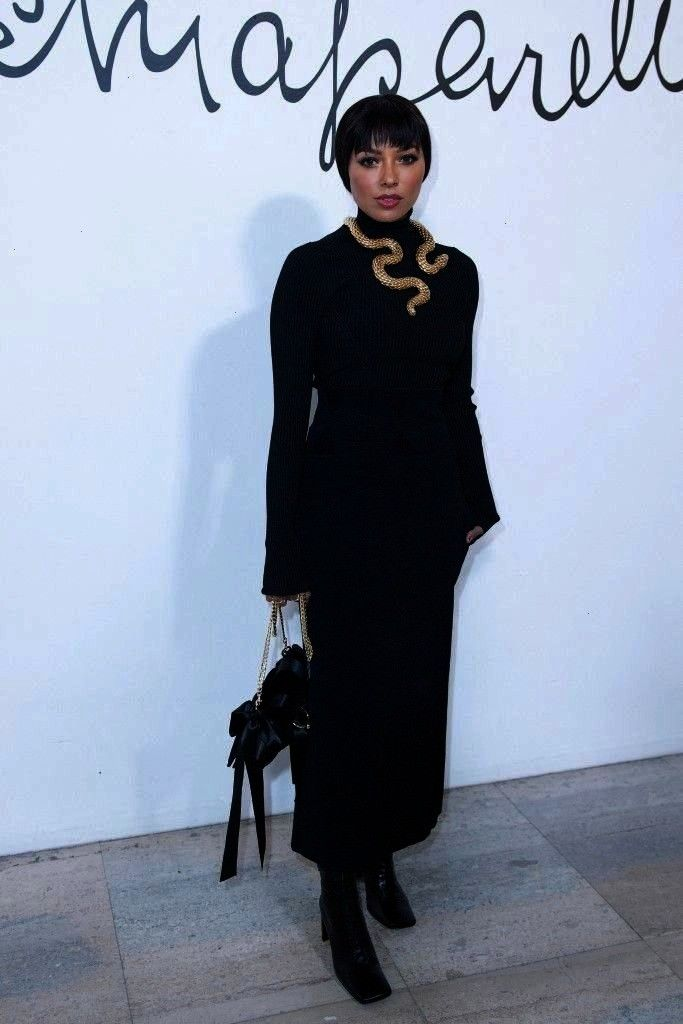 Schiaparelli Haute Couture SpringSummer 2020 Show in Paris Kat Graham in Black Sweater With Skirt During Attend Schiaparelli Haute Couture SpringSummer 2020 Show in Paris...