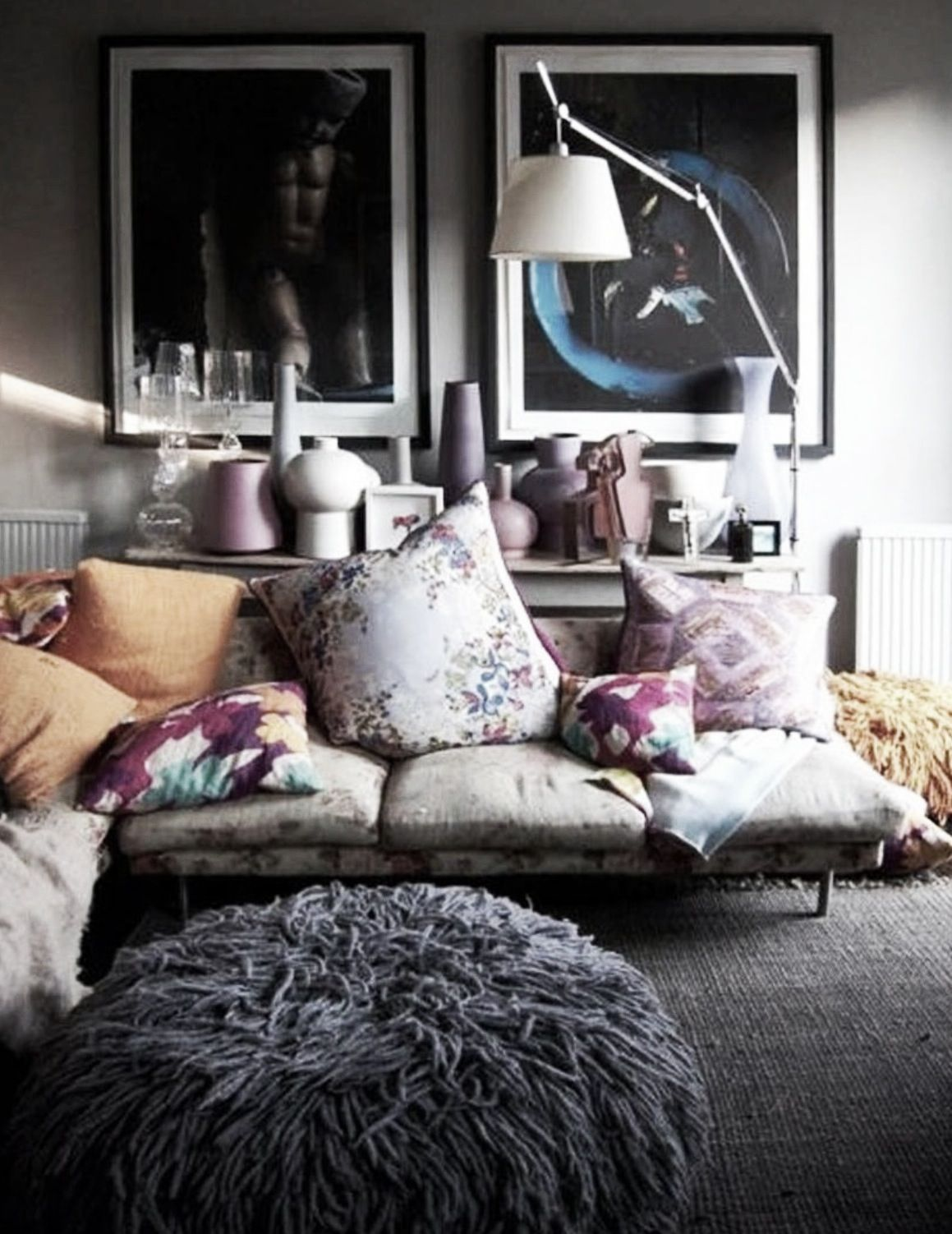 Boho Decor Bliss ⍕⋼ Bright Gypsy Color Hippie Bohemian Mixed Pattern Home Decorating  Ideas   Living Room With Many Pillows