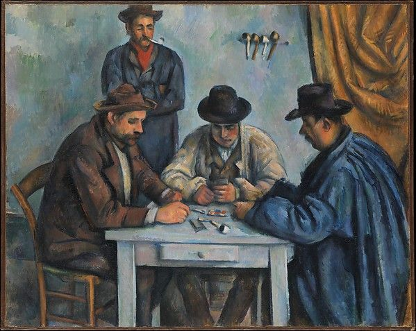 Paul Cézanne | The Card Players 1890-2 | The Met gallery 826