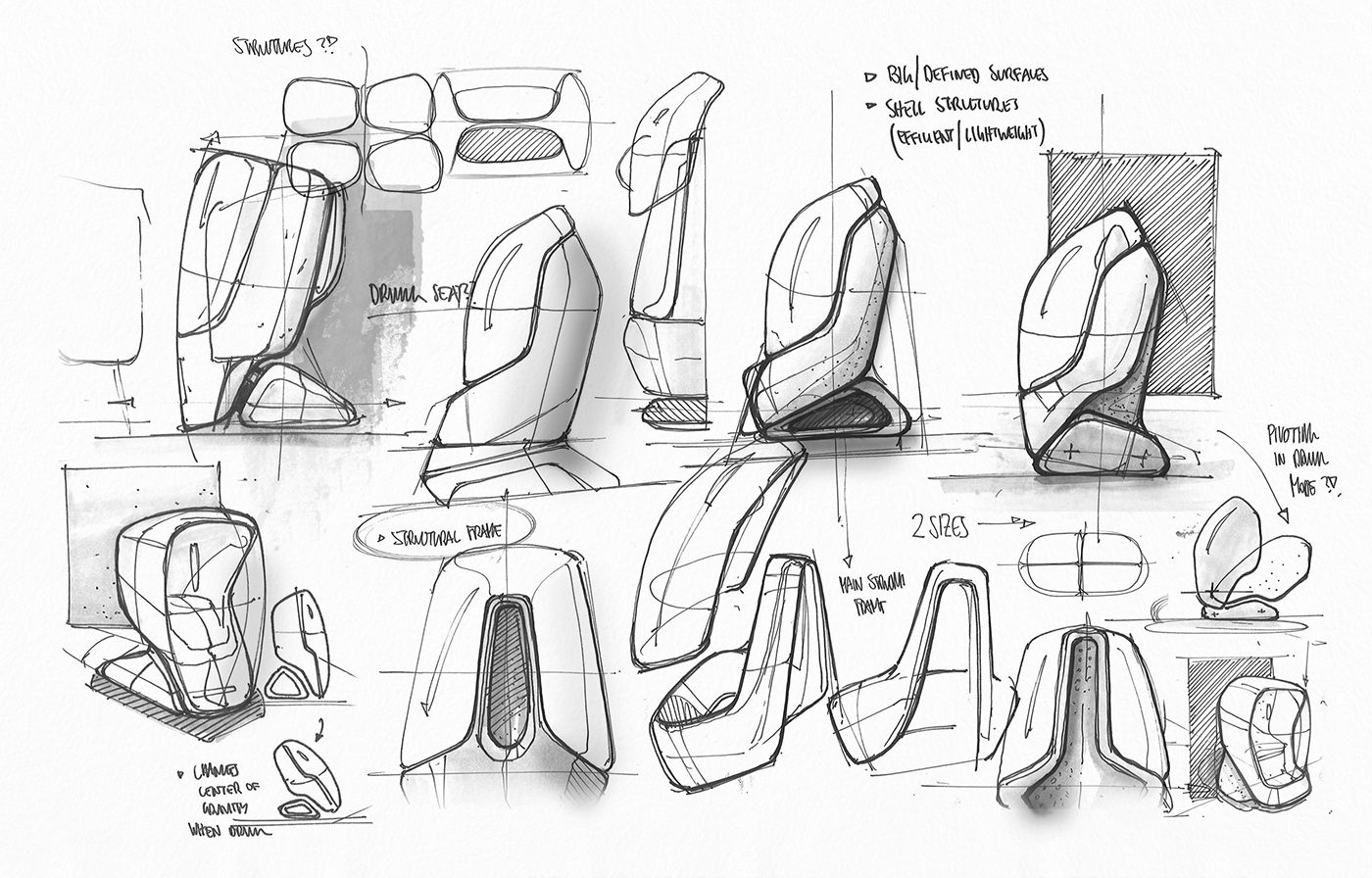 industrial design sketches. Mixed-media Industrial Design Sketching Sketches