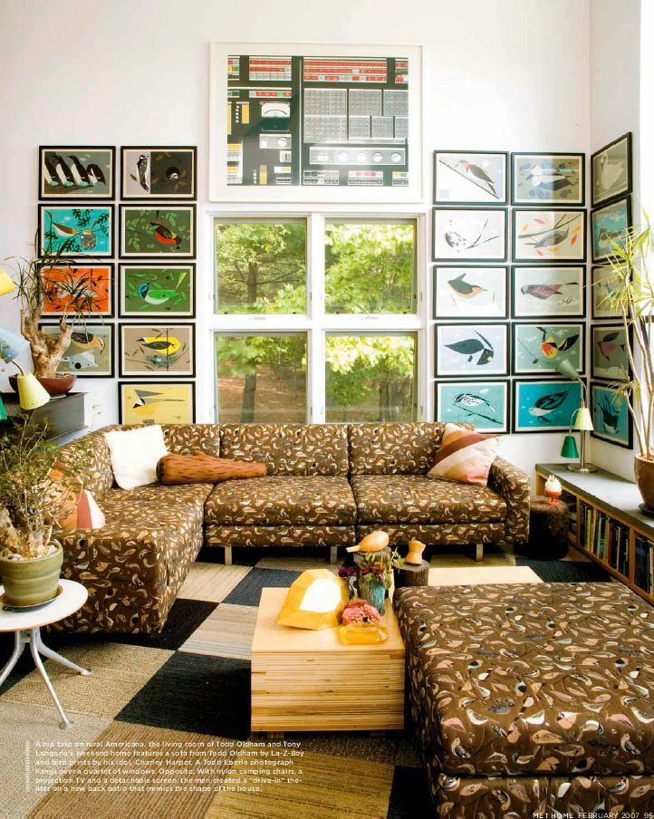 Charley Harper Living Room (couches By Todd Oldham, With
