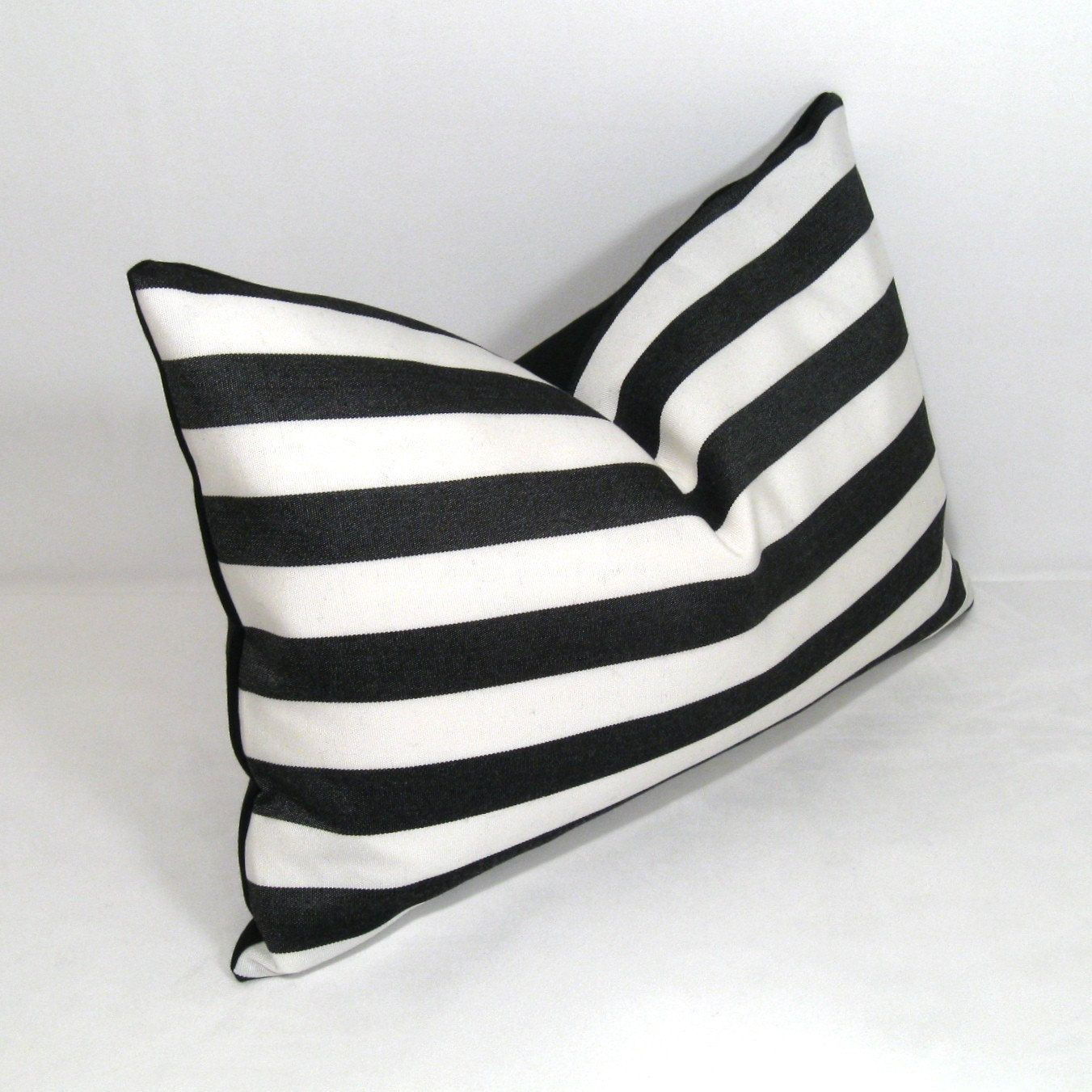 Black & White Striped Pillow Cover, Modern Outdoor Pillow Cover, Decorative  Throw Pillow Cover Sunbrella Pillow Cushion Cover, Black Stripes