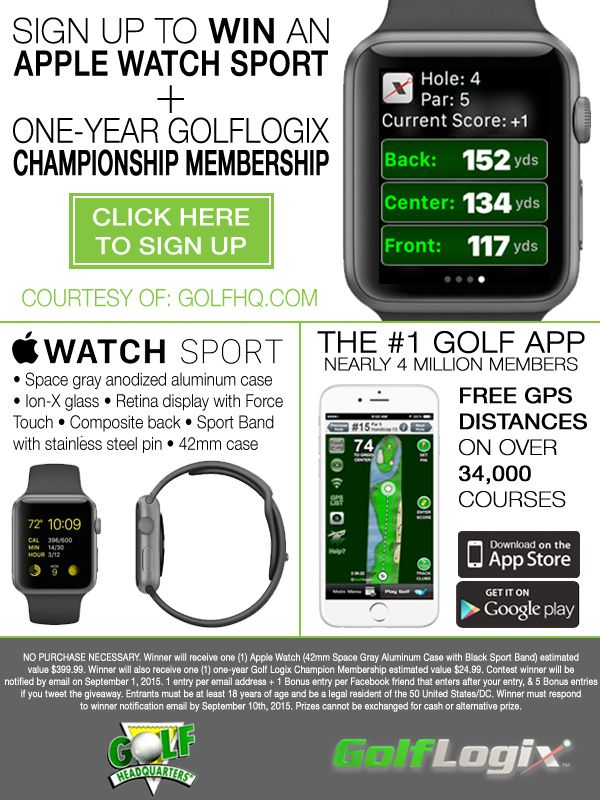 Enter for a chance to win an Apple Watch Sport along with