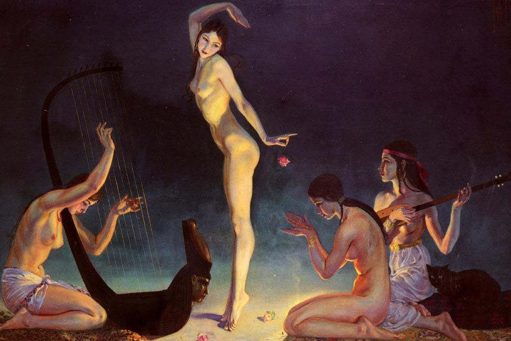 A Dancer Of Ancient Egypt Painting by George Owen Wynne Apperley ...