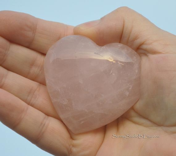 ROSE QUARTZ HEART 2 2