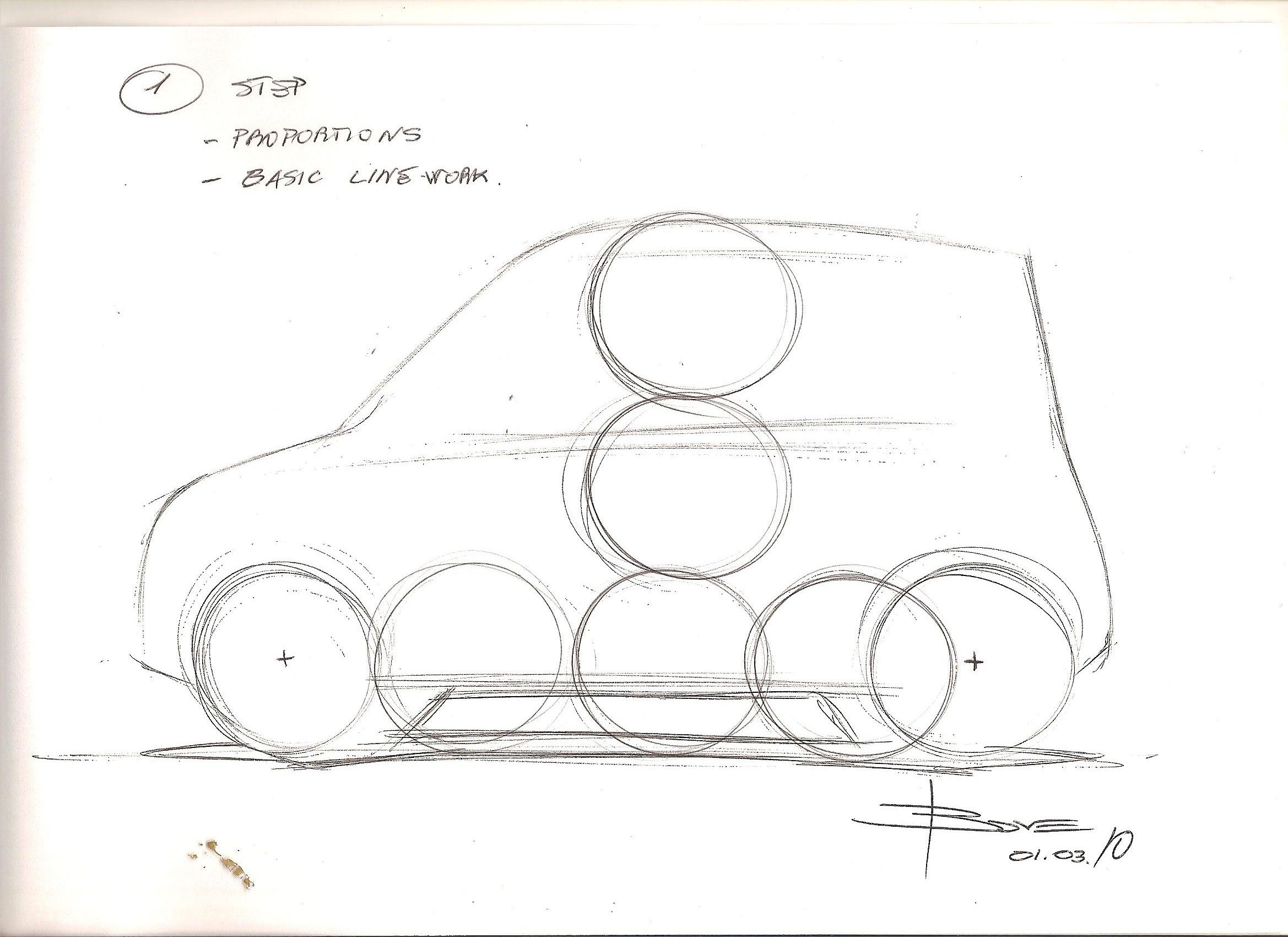 Basic design of a car - How To Draw A Simple Side View Car Sketch Basic Steps