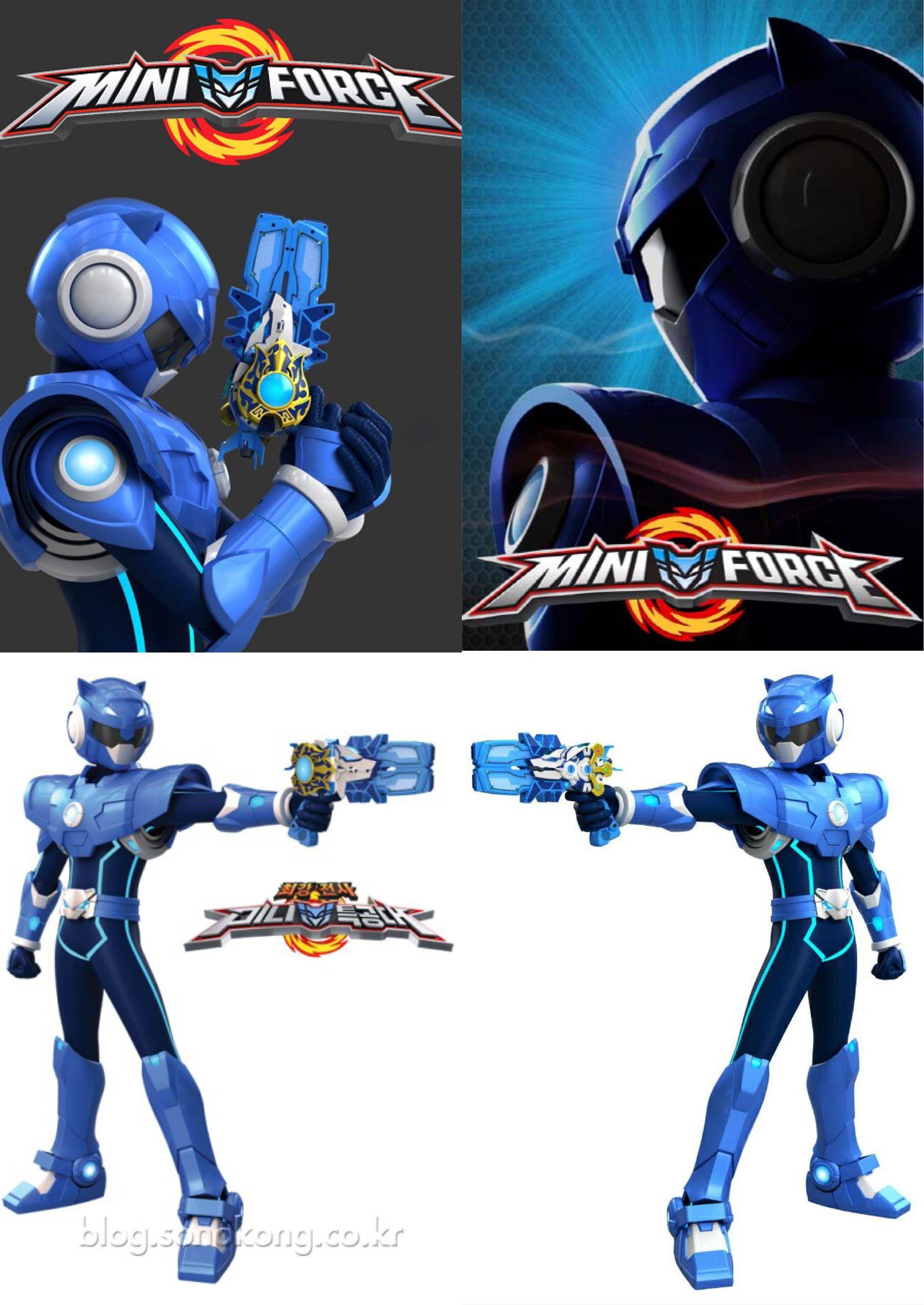 Blue Miniforce Rangers Miniforce Rangers Power Rangers