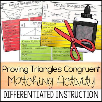 Fresh Ideas - Proving Triangles Congruent Proof Activity High School