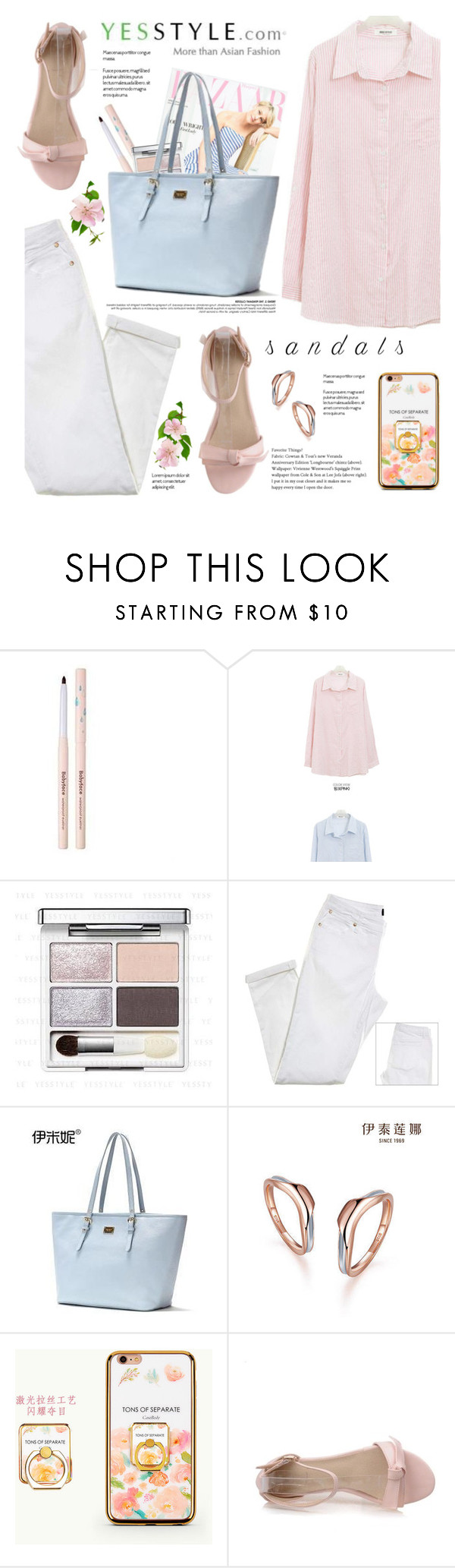 """""""YesStyle Polyvore Group """" Show us your YesStyle """""""" by yexyka ❤ liked on Polyvore featuring Emini House, Italina and summersandals"""