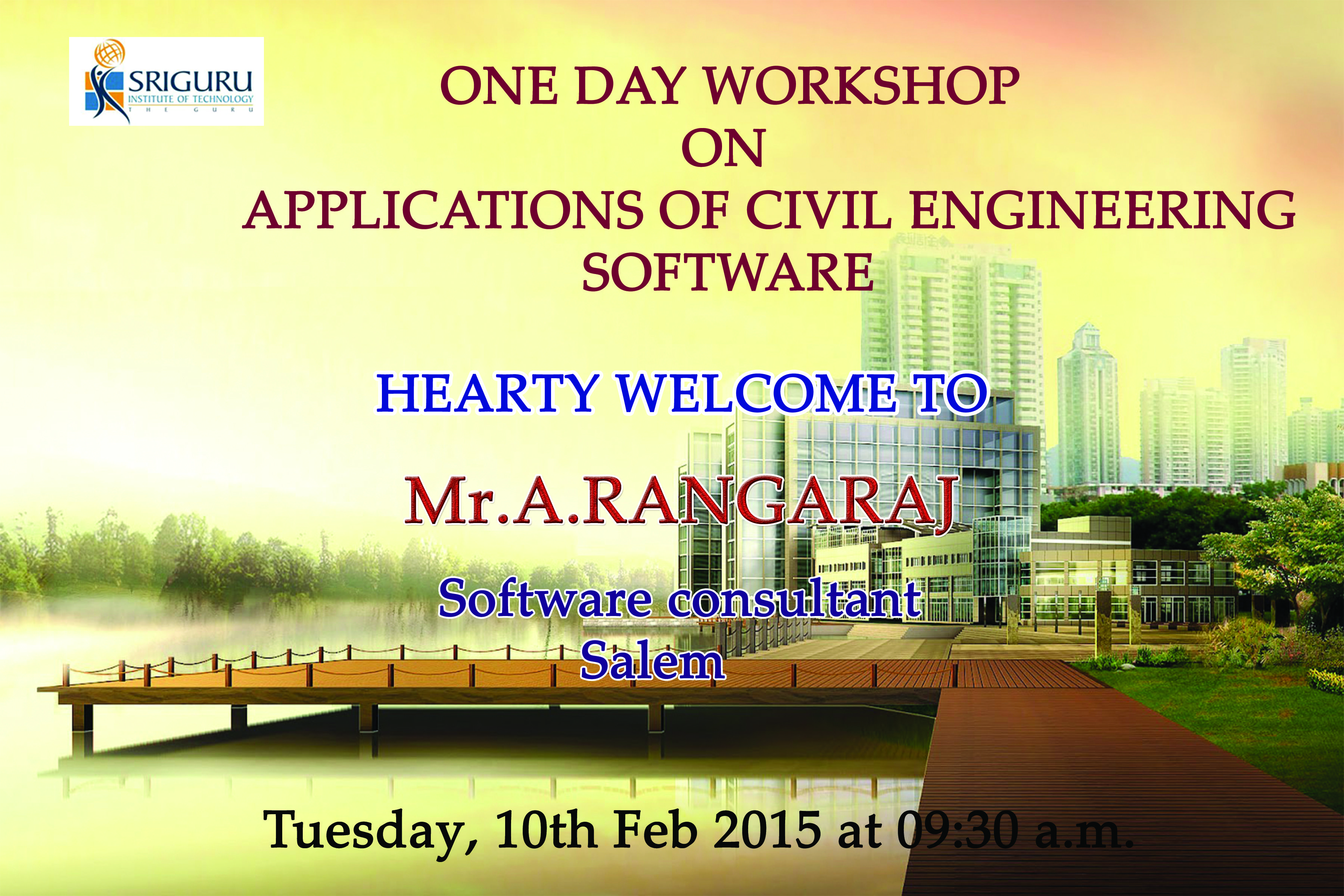 Department Of Civil Engineering Conducts One Day Workshop On Applications Of Civil Engineerin Civil Engineering Software Civil Engineering Engineering Student