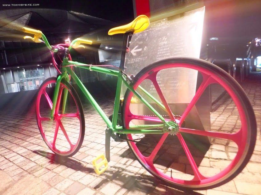 Night cycling in Tokyo.