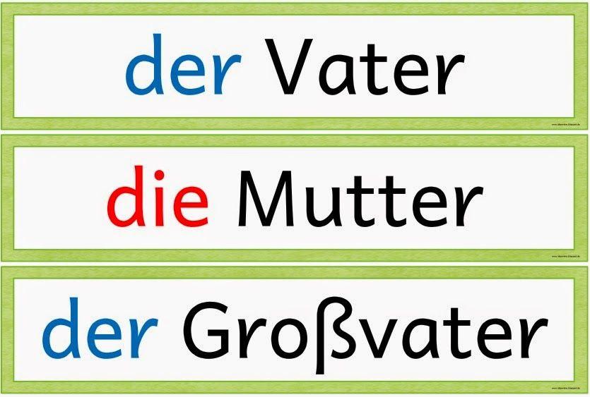 ideenreise wortkarten zum thema familie f r daz daz deutsch unterricht fremdsprache und. Black Bedroom Furniture Sets. Home Design Ideas