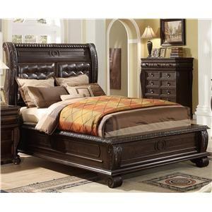 Marlo Furniture Bedroom Sets Pleasing Link Usa B2160 California King Panel Bed W Upholstered Headboard Inspiration