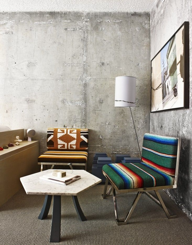 How An L A Hotel Is Making Bare Concrete Walls Look Cool Interior Design Interior Home Decor