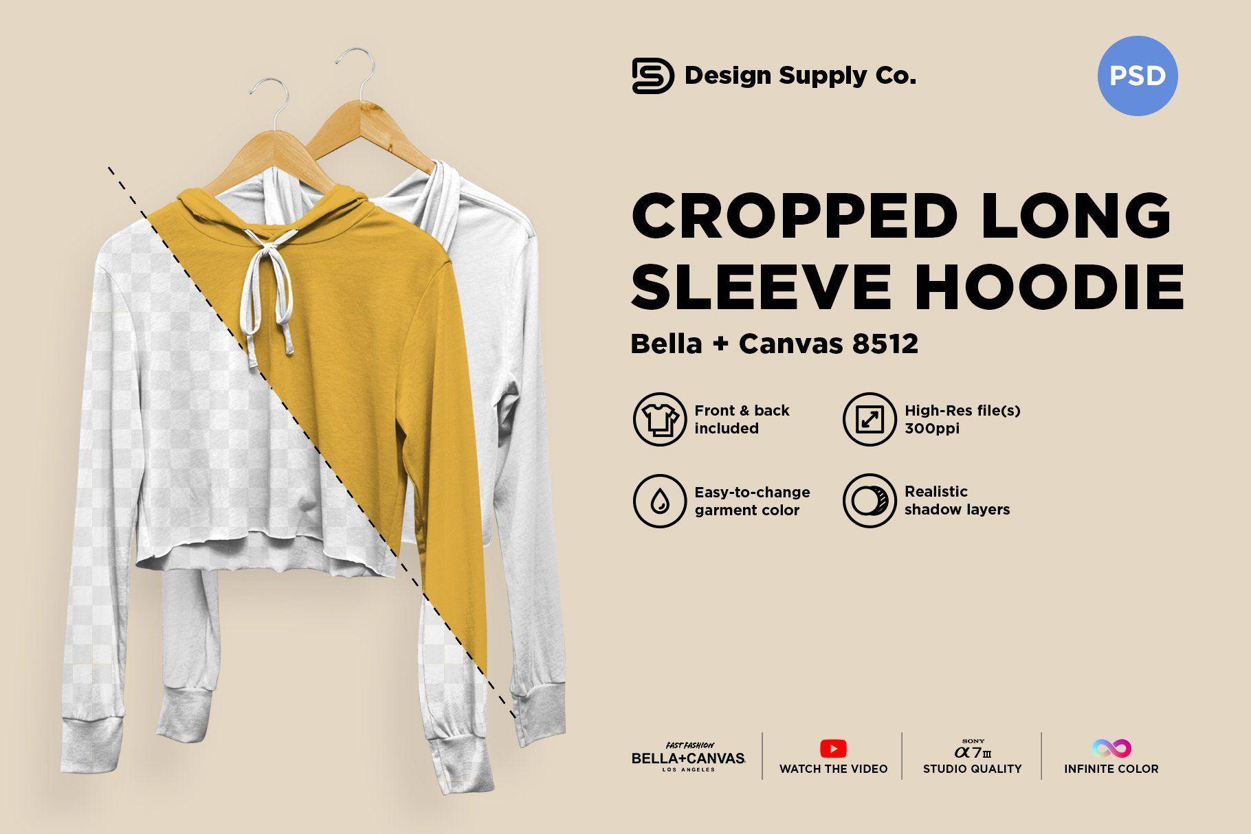 Download Cropped Tri Blend Hoodie Mockup Clothing Mockup Hoodie Mockup Crop Tops Women