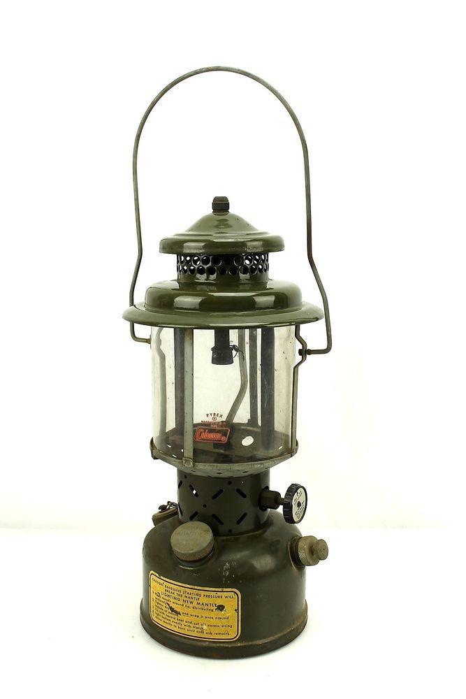 Vintage US Military Green Coleman Lantern 1952 Korean War Era