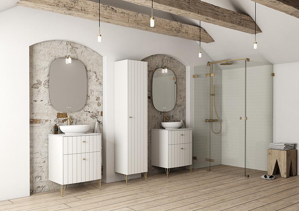 Dansani Vintage You White Vanity Unit Retro Bathrooms Gorgeous Furniture