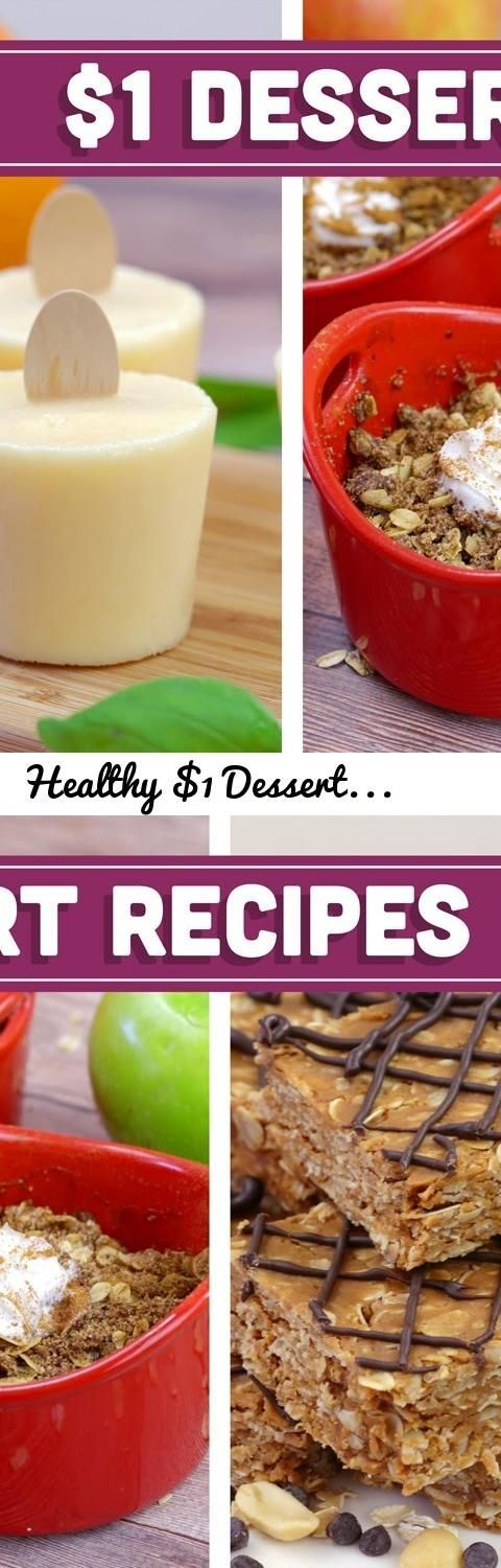Healthy $1 Dessert Recipes - Easy Budget Meals! - Mind Over Munch... Tags: mind ... ,  #Budge...