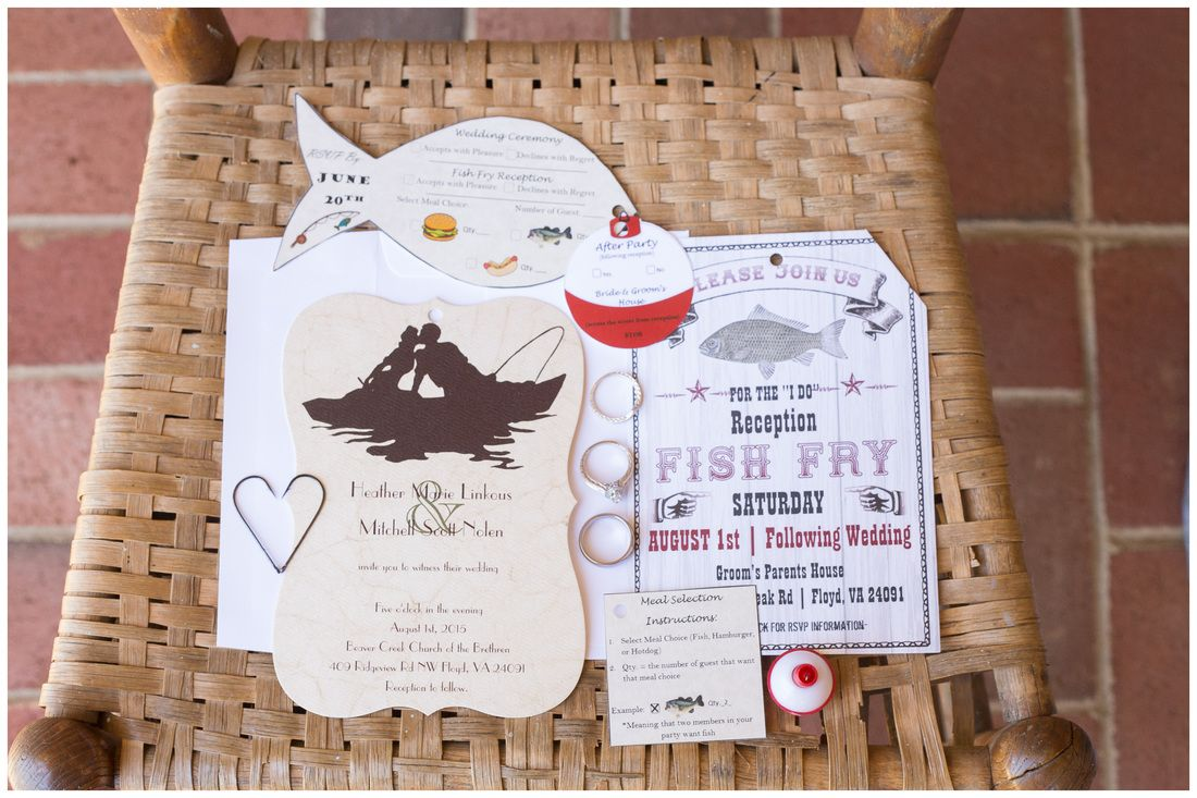 Fish Themed Wedding Invitation Shaped Invite Two Less In The Sea