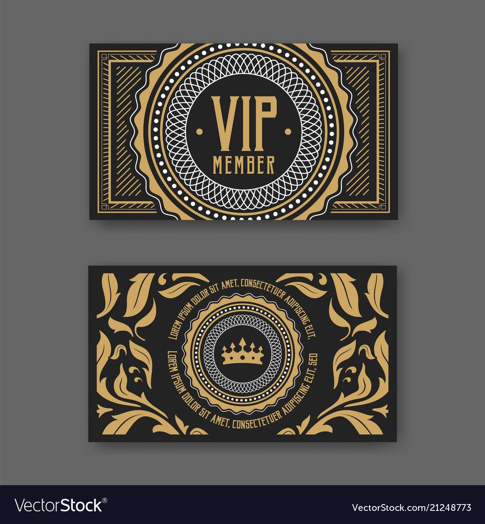 Vip Membership Card Certificate Template Vector Illustration Download A Free Preview Or High Quality Adobe Illustrat Vip Card Design Membership Card Vip Card