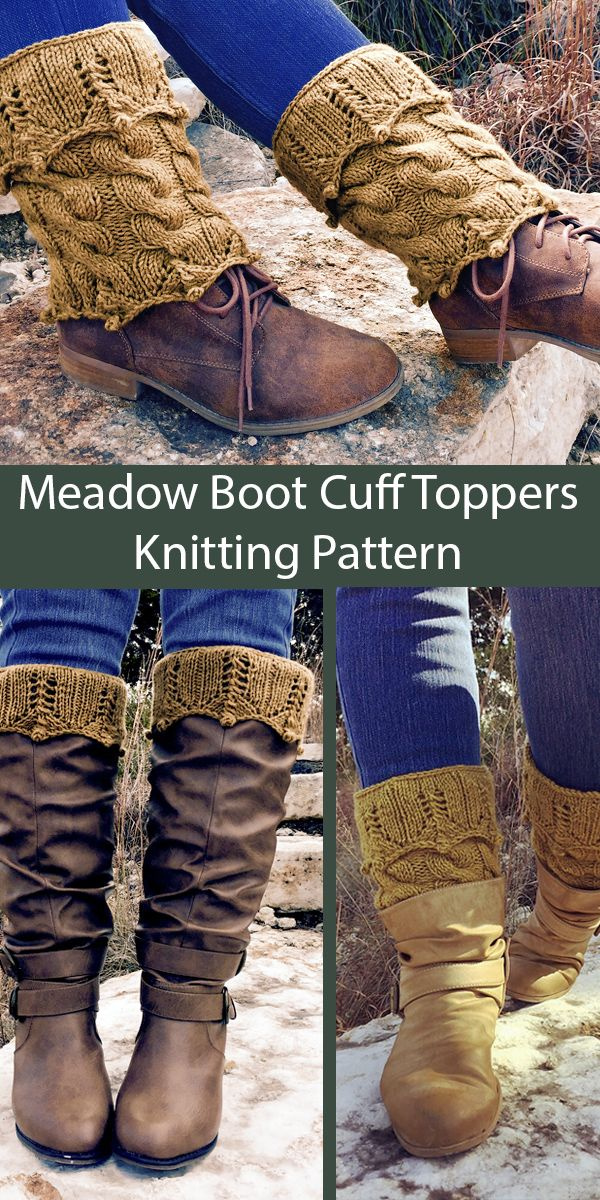 Knitting Pattern for Meadow Boot Cuff Toppers - These boot ...