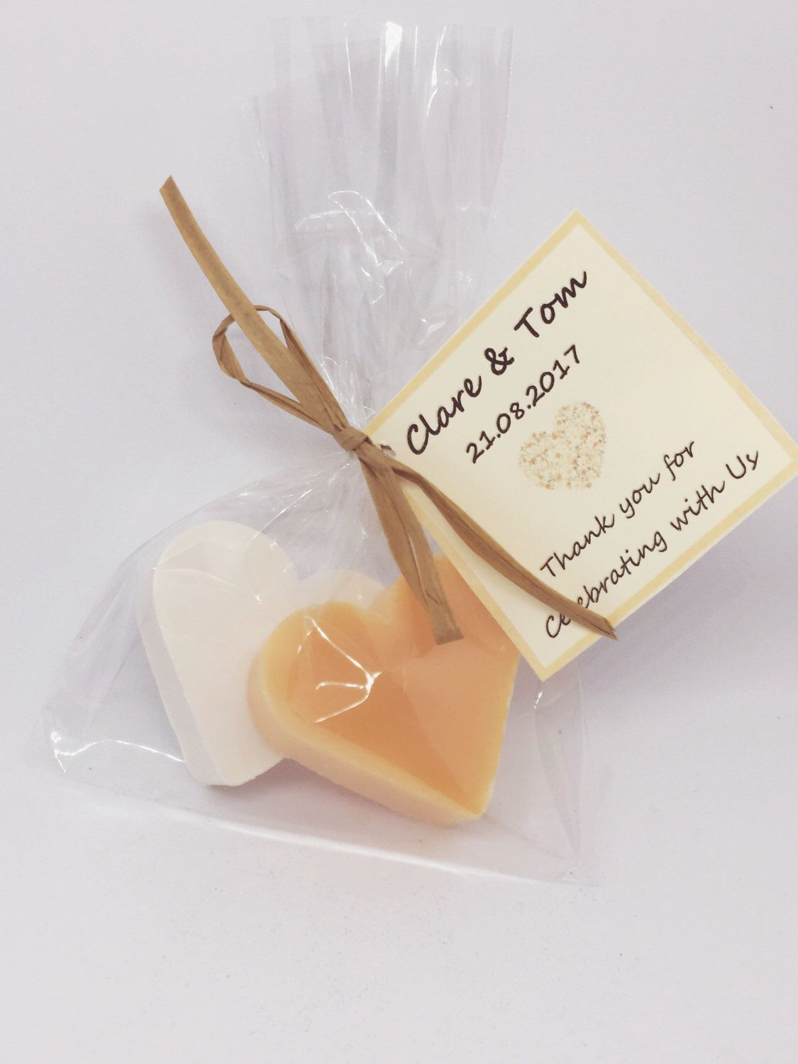 10 xWedding Favours, Soap favours Mini soap favours, peach colour ...
